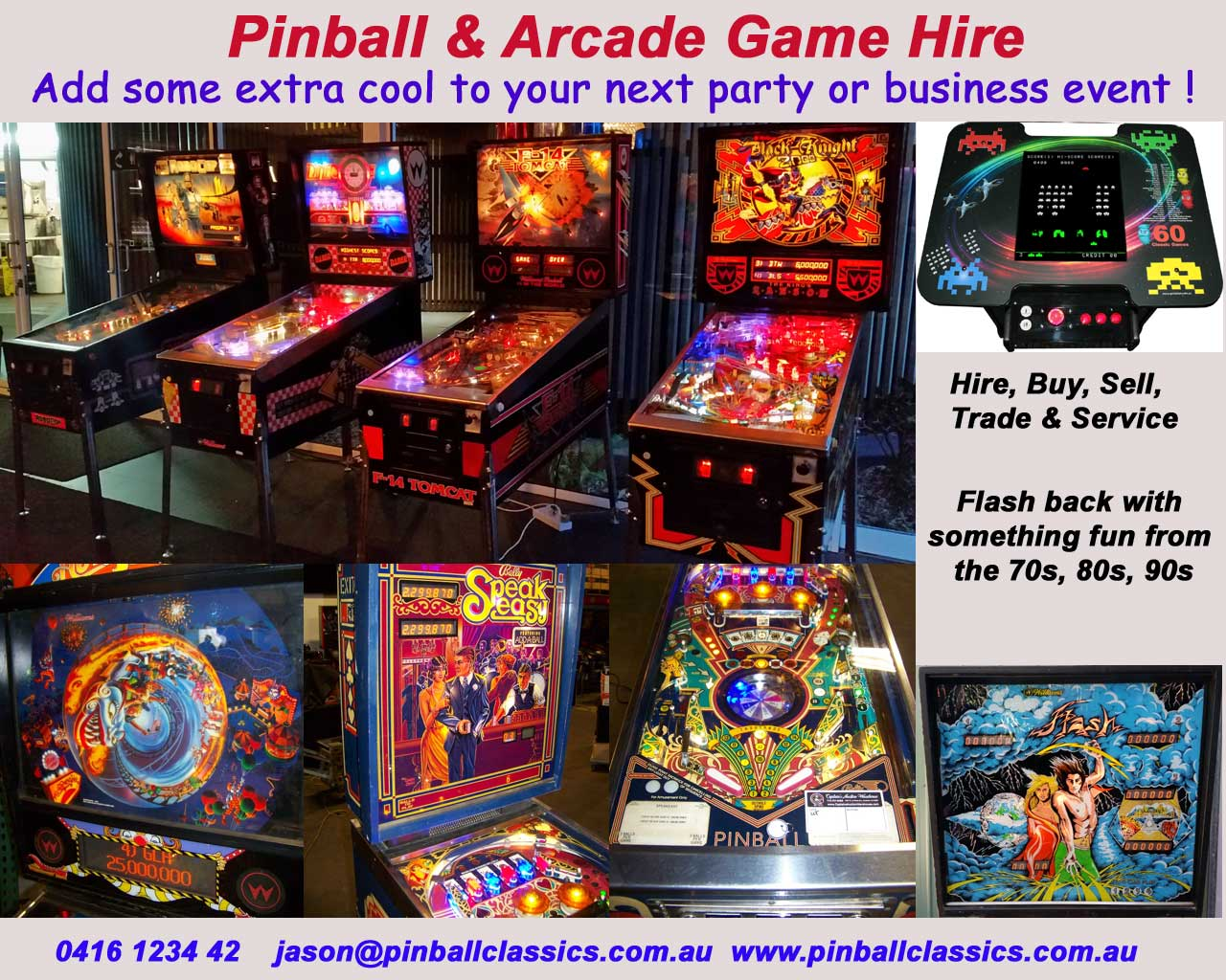 PINBALL MACHINE Sale, Buy, Sell, Trade, Repair, Service